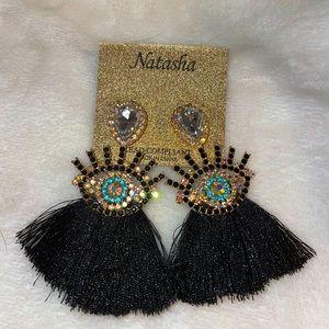 NWT Natasha Couture Jewelry Eye Earrings